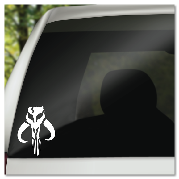Star Wars Boba Fett Mandalorian Symbol Bounty Hunter Vinyl Decal Sticker
