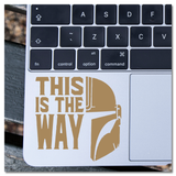 The Mandalorian This is the Way with Mando Helmet Vinyl Decal Sticker