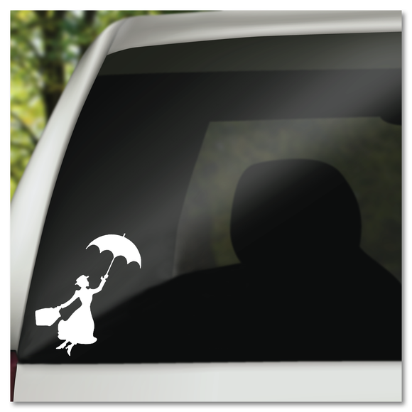 Mary Poppins with Umbrella Disney Vinyl Decal Sticker