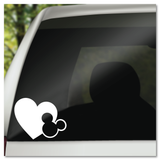 Mickey Ears Icon and Heart Vinyl Decal Sticker