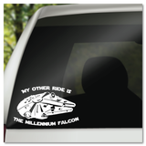 My Other Ride Is The Millennium Falcon Star Wars Vinyl Decal Sticker
