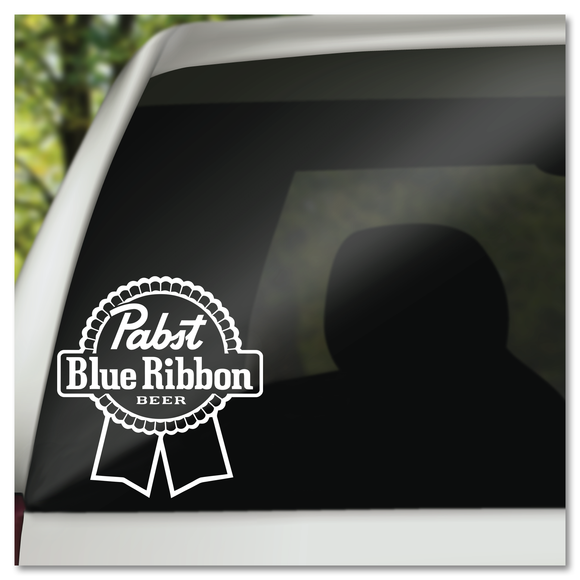 PBR Pabst Blue Ribbon Beer Vinyl Decal Sticker