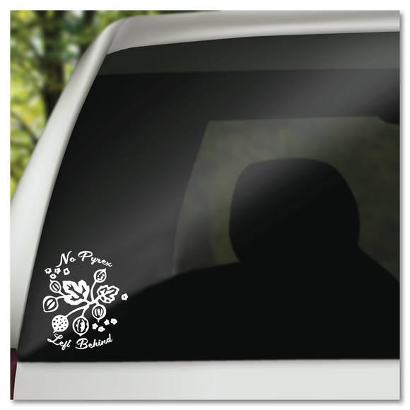 No Pyrex Left Behind Gooseberry Pattern Vinyl Decal Sticker