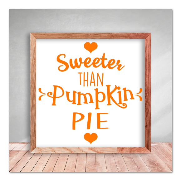 Sweeter Than Pumpkin Pie Vinyl Decal Sticker