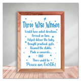 Three Wise Women Christmas Vinyl Decal Sticker