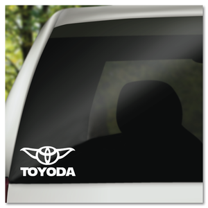 Toyoda Parody of Toyota and Yoda Vinyl Decal Sticker