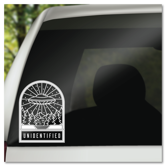 Unidentified UFO Badge Vinyl Decal Sticker