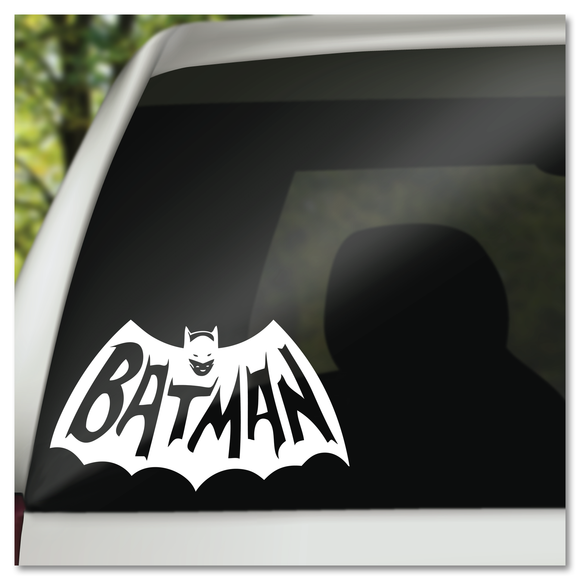 Vintage Style Batman Cape Logo Vinyl Decal Sticker