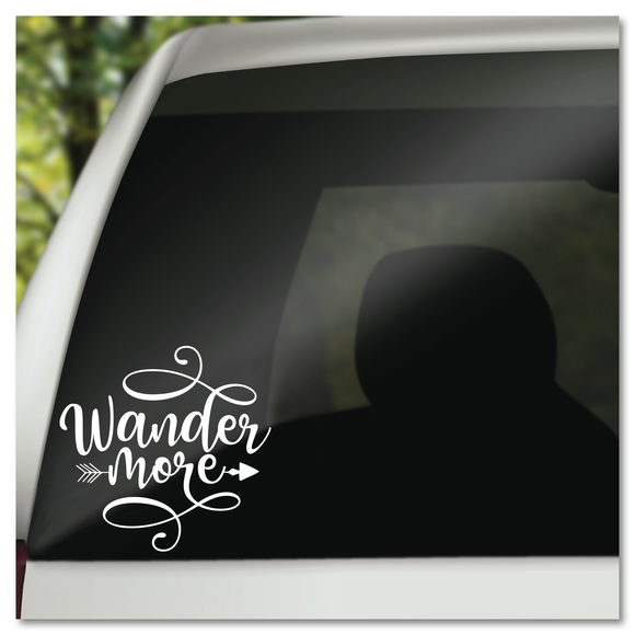 Boho Wander More Vinyl Decal Sticker