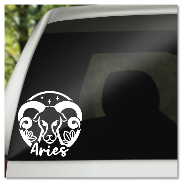 Aries Zodiac Sign Vinyl Decal Sticker