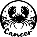 Cancer Zodiac Sign Vinyl Decal Sticker