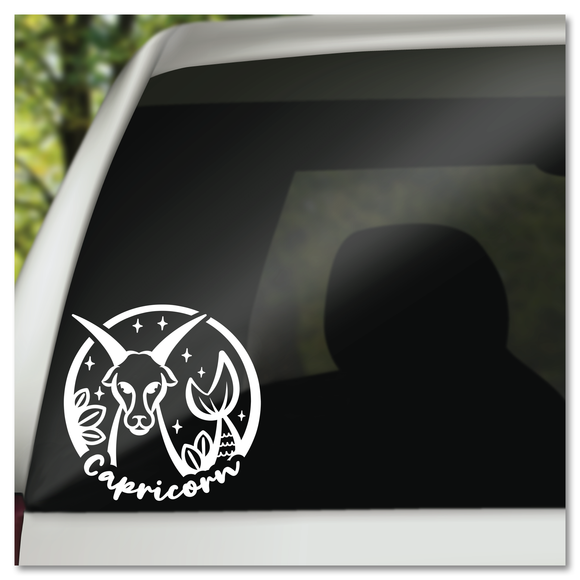 Capricorn Zodiac Sign Vinyl Decal Sticker