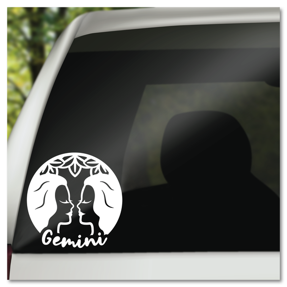 Gemini Zodiac Sign Vinyl Decal Sticker