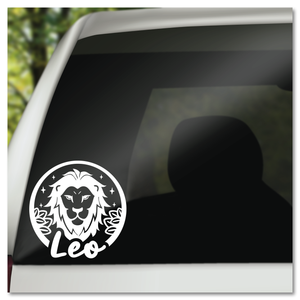 Leo Zodiac Sign Vinyl Decal Sticker