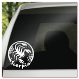 Scorpio Zodiac Sign Vinyl Decal Sticker