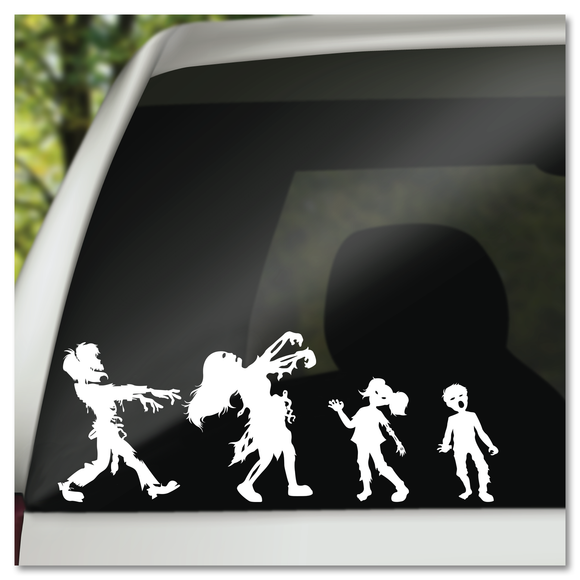 Zombie Family Mom, Dad, Boy *OR* Girl Vinyl Decal Sticker