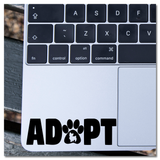 Adopt A Dog Prints Vinyl Decal Sticker