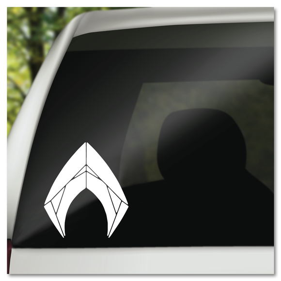Aquaman Belt Buckle Logo Vinyl Decal Sticker
