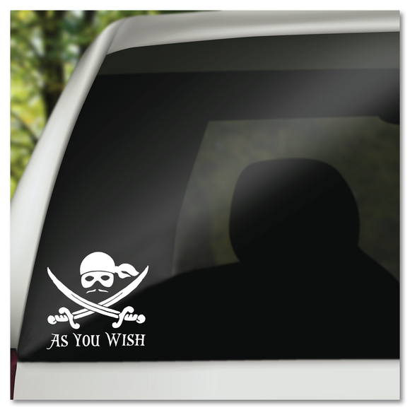 Princess Bride As You Wish Vinyl Decal Sticker