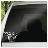 Baby Yoda Vinyl Decal Sticker
