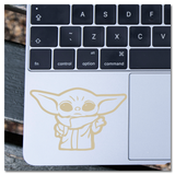 Baby Yoda Mandalorian Star Wars Vinyl Decal Sticker