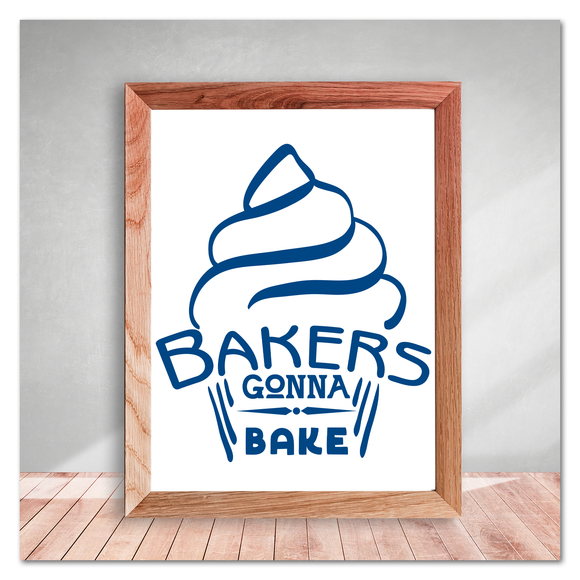 Bakers Gonna Bake Cupcake Kitchen Vinyl Decal Sticker