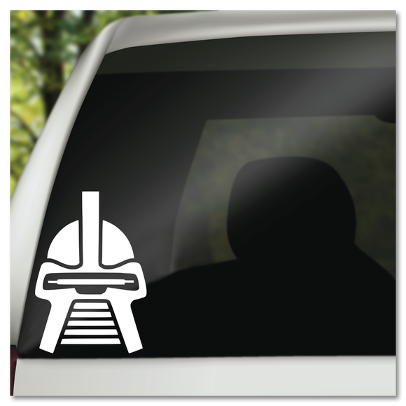 Battlestar Galactica Cylon Helmet Vinyl Decal Sticker
