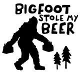 Bigfoot Stole My Beer Vinyl Decal Sticker