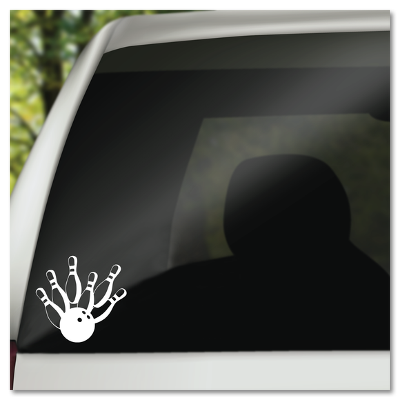 Bowling Pins & Bowling Ball Vinyl Decal Sticker