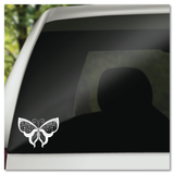 Delicate Lacy Butterfly Vinyl Decal Sticker
