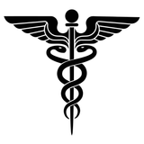 Rod of Asclepius Medical Symbol Caduceus Staff of Hermes Symbol Vinyl Decal Sticker