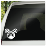 Disney Mickey Icon with Cinderella Castle WDW Walt Disney World Vinyl Decal Sticker