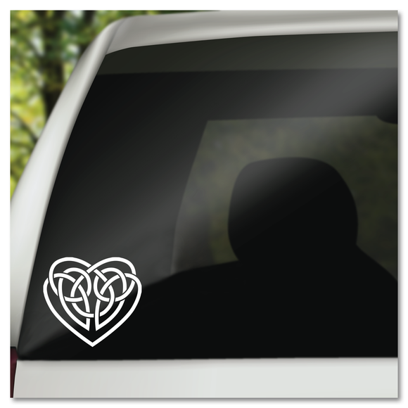 Irish Celtic Knot Heart Vinyl Decal Sticker