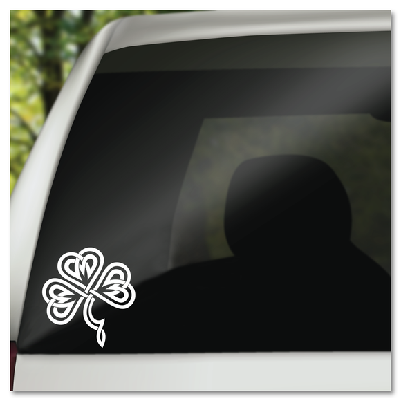 Celtic Knot Shamrock St. Patrick's Day Clover Vinyl Decal Sticker