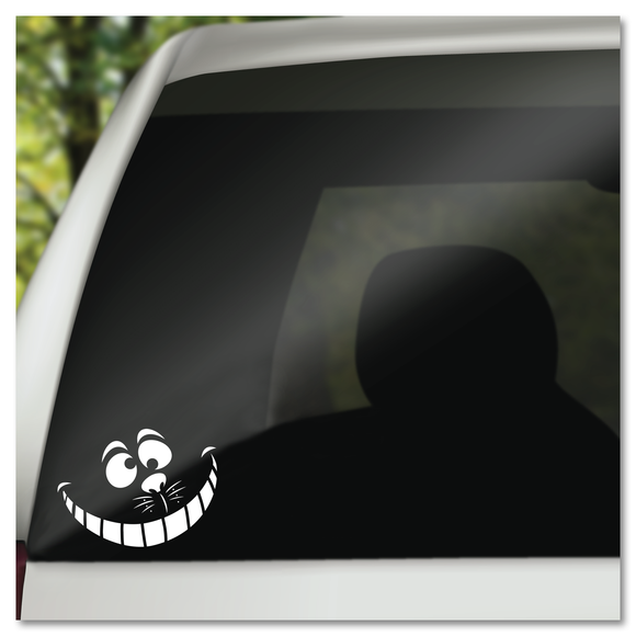 Disney's Alice In Wonderland Cheshire Cat Face Vinyl Decal Sticker
