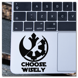 Star Wars Choose Wisely Dark Side Light Side Vinyl Decal Sticker