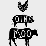 Chicken Pig Cow Cluck Oink Moo Farm Vinyl Decal Sticker