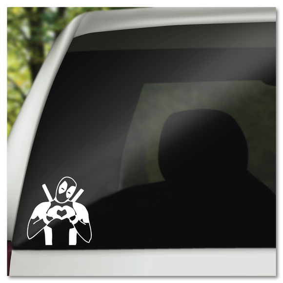 Deadpool Heart Hands Marvel Comics Vinyl Decal Sticker
