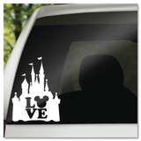 Disney Castle LOVE Hidden Mickey Icon Vinyl Decal Sticker