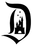 Disney Castle inside D Disneyland Disney World Cinderella Sleeping Beauty Vinyl Decal Sticker