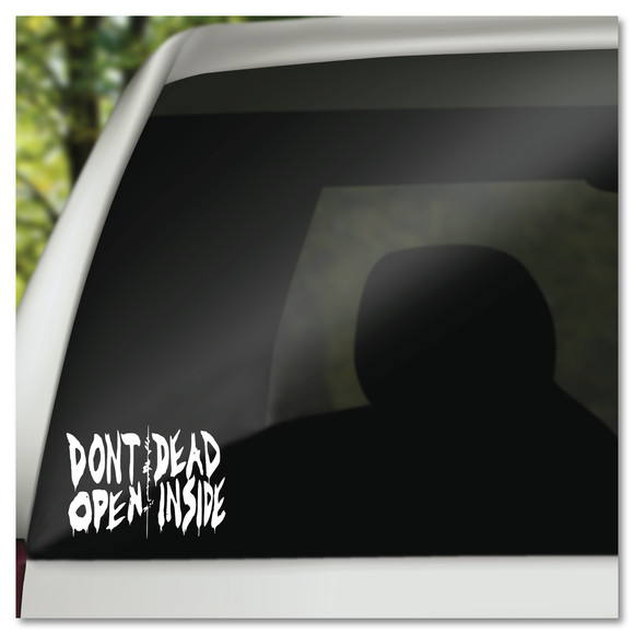 The Walking Dead Don't Open Dead Inside Hospital Doors TWD Vinyl Decal Sticker