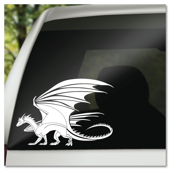Classic Medieval Dragon Vinyl Decal Sticker