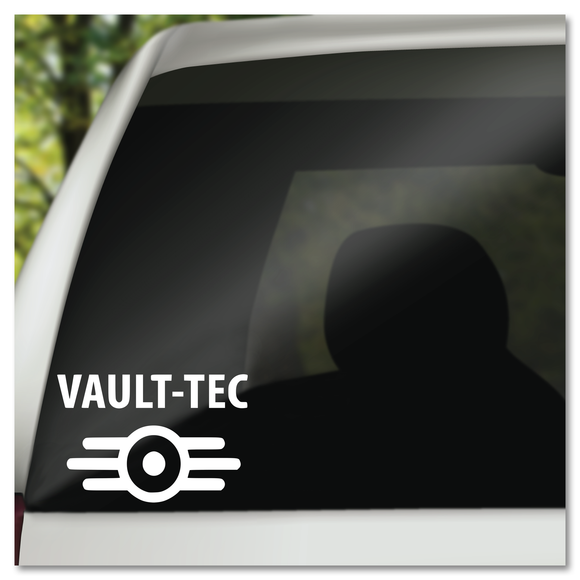 Fallout Vault-Tec Symbol with Text Vinyl Decal Sticker
