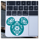 Floral Coco Day of the Dead Inspired Hidden Mickey Icon Vinyl Decal Sticker