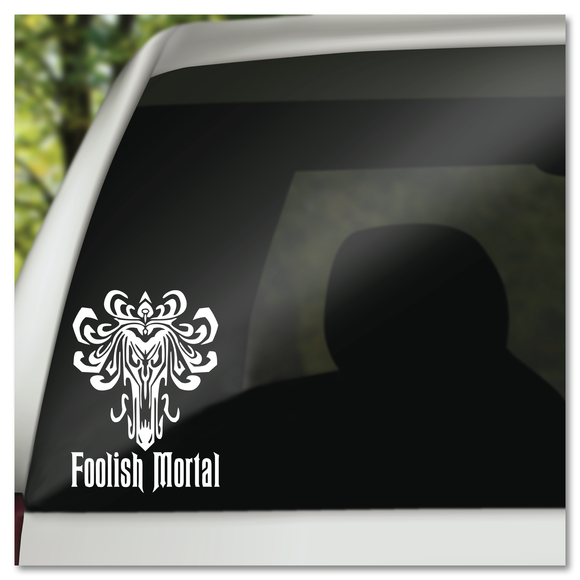 Disney Haunted Mansion Wallpaper Foolish Mortal Vinyl Decal Sticker