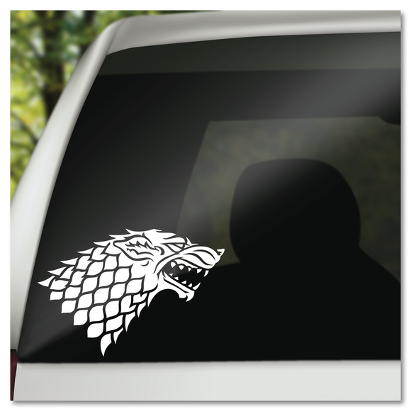 Game of Thrones House of Stark Grey Wolf Direwolf Symbol GoT Vinyl Decal Sticker