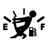 Empty Gas Tank Guy Vinyl Decal Sticker