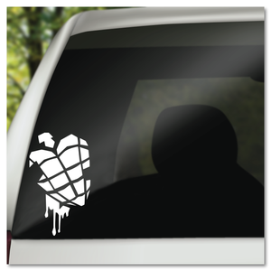 Green Day American Idiot Heart Grenade Vinyl Decal Sticker