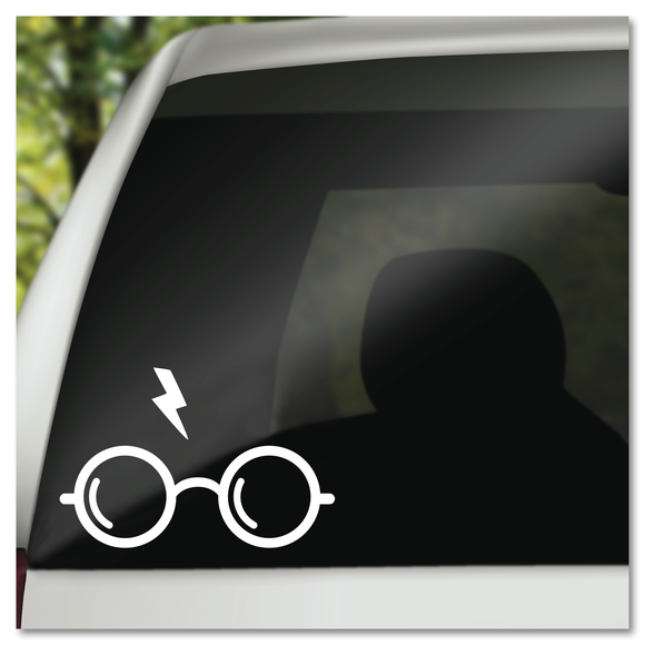 Harry Potter Glasses and Scar Vinyl Decal Sticker