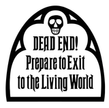 Disney Haunted Mansion Dead End Sign Vinyl Decal Sticker